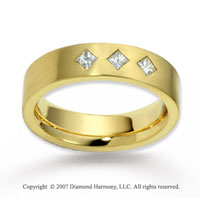 18k Yellow Gold 5.5mm FCF .30  Carat Diamond Anniversary Band