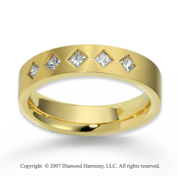18k Yellow Gold 5.5mm FCF 1/2  Carat Diamond Anniversary Band