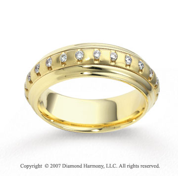 18k Yellow Gold 6.5mm FCF 1/2  Carat Diamond Anniversary Band