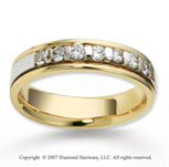 18k Two Tone Gold 4.5mm FCF .28  Carat Diamond Anniversary Band