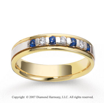 18k Two Tone Gold 4.5mm FCF Diamond Anniversary Band
