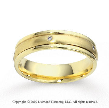 18k Yellow Gold Shiny 4mm FCF Diamond Anniversary Band