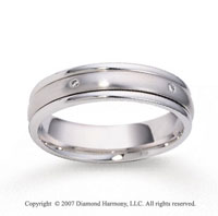 18k White Gold Shiny 5mm CF Diamond Anniversary Band