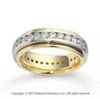 18k Two Tone Gold 6.5mm FCF 2.60  Carat Diamond Anniversary Band