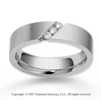 18k White Gold Shiny 6mm FCF Diamond Anniversary Band