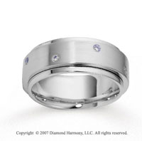 18k White Gold Shiny 9mm FCF Diamond Anniversary Band