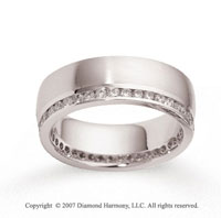 18k White Gold 7mm FCF 1.05  Carat Diamond Anniversary Band