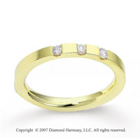 18k Yellow Gold Sleek 2.5mm CF Diamond Anniversary Band