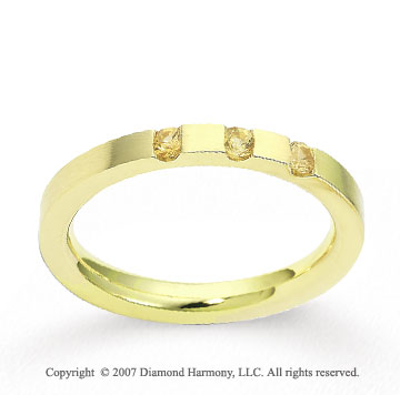 18k Yellow Gold 2.5mm CF Yellow Sapphire Anniversary Band