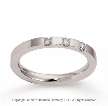18k White Gold Sleek 2.5mm CF Diamond Anniversary Band