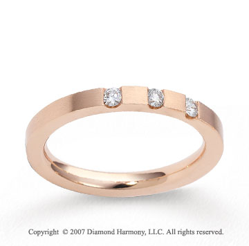 18k Rose Gold Sleek 2.5mm CF Diamond Anniversary Band