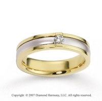 18k Two Tone Gold Stylish 5.5mm FCF Diamond Anniversary Band