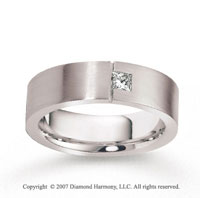 18k White Gold Shiny 7mm FCF Diamond Anniversary Band