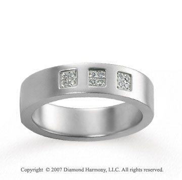 18k White Gold Carved 5.5mm FCF Diamond Anniversary Band