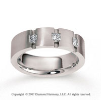 18k White Gold 7mm FCF .48  Carat Diamond Anniversary Band
