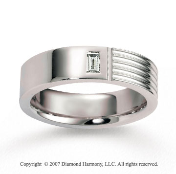 18k White Gold Simple 6.5mm FCF Diamond Anniversary Band