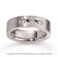 18k White Gold 7mm FCF .36  Carat Diamond Anniversary Band