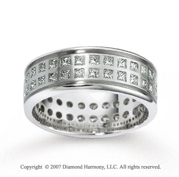 18k White Gold 8.5mm CF 2.07  Carat Diamond Anniversary Band