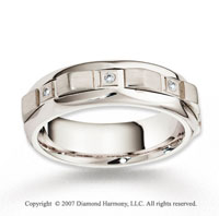18k White Gold Unique 7mm FCF Diamond Anniversary Band