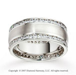 18k White Gold 8.5mm FCF 2.10  Carat Diamond Anniversary Band