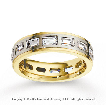 18k Two Tone Gold 5.5mm FCF 2.80  Carat Diamond Anniversary Band