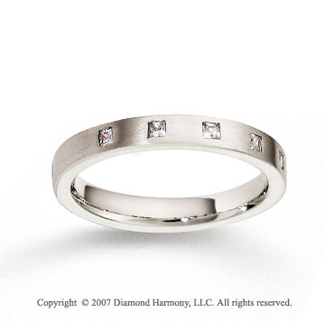 18k White Gold 3mm FCF Diamond Anniversary Band