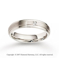 18k White Gold Ridge 5mm CF Diamond Anniversary Band