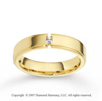 18k Yellow Gold Shiny 5mm CF Diamond Anniversary Band