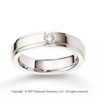 18k White Gold Ridge 5.5mm FCF Diamond Anniversary Band