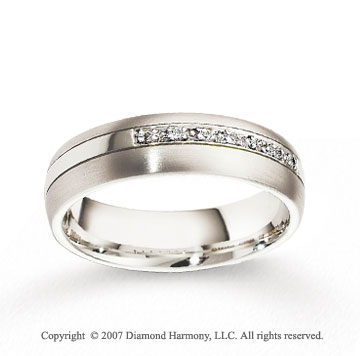 18k White Gold 6mm CF Diamond Anniversary Band