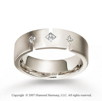 18k White Gold 7mm FCF .26  Carat Diamond Anniversary Band