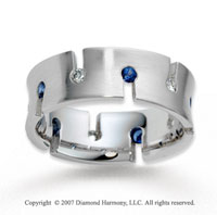 18k White Gold Fancy Royal Crown 7mm Diamond Wedding Band