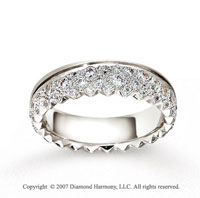 14k White Gold 6mm .57  Carat Multi Diamonds Wedding Band