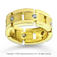 14k Yellow Gold Simple .48  Carat Diamond Wedding Band