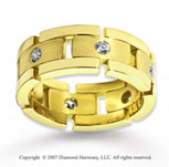 18k Yellow Gold Simple .48  Carat Diamond Wedding Band