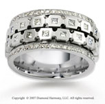14k White Gold 1.86  Carat Bezel Set Diamond Wedding Band