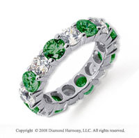 5 Carat Emerald and Diamond Platinum Eternity Band