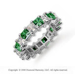 4 3/4 Carat Emerald and Diamond Platinum Eternity Band