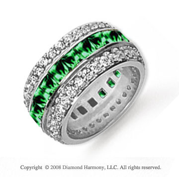 brilliant wedding band emerald media bands for gold half rings platinum anniversary white carat forever moissanite or women eternity