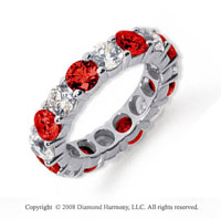 5  Carat Ruby and Diamond Platinum Eternity Band