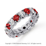 4 1/2 Carat Ruby and Diamond Platinum Eternity Band