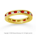 1/2  Carat Ruby and Diamond 14k Yellow Gold Eternity Band
