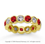 2  Carat Ruby and Diamond 18k Yellow Gold Eternity Band