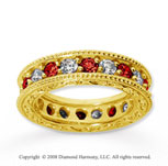 3  Carat Ruby and Diamond 18k Yellow Gold Eternity Band