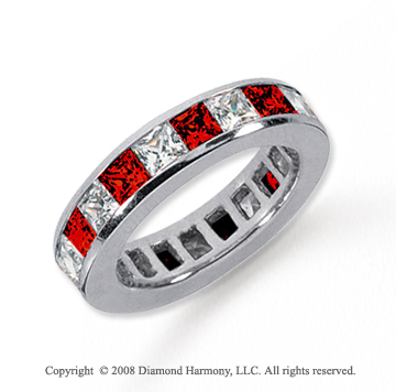 3  Carat Ruby and Diamond Platinum Eternity Band