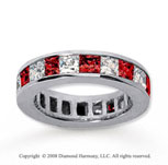 4 3/4 Carat Ruby and Diamond 14k White Gold Eternity Band