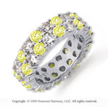 5 1/2 Carat Yellow Sapphire and Diamond Platinum Eternity Band