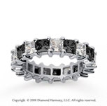 4 3/4 Carat Black and White Diamond 14k White Gold Eternity Band