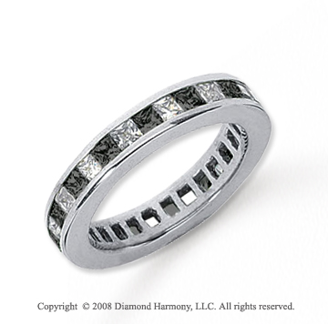 1 1/2 Carat Black andWhite Diamond Platinum Eternity Band