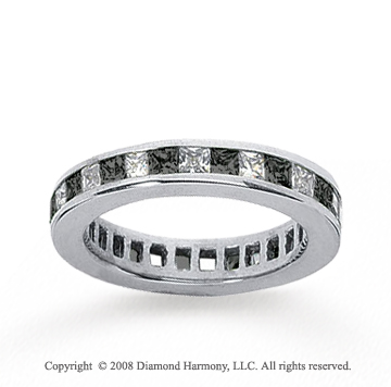 1 Carat Black and White Diamond 14k White Gold Eternity Band
